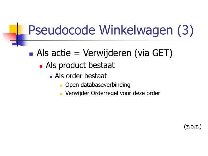 Pseudocode Winkelwagen (3)
