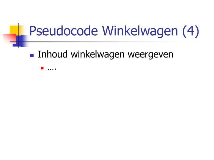 Pseudocode Winkelwagen (4)