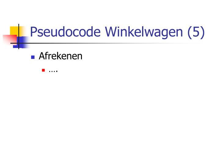 Pseudocode Winkelwagen (5)