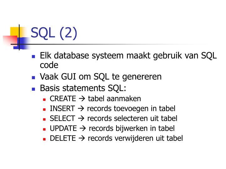 SQL (2)