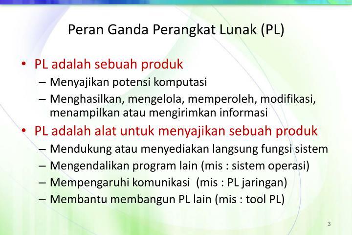 Peran Ganda Perangkat Lunak (PL)