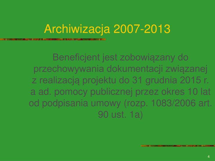 Archiwizacja 2007-2013