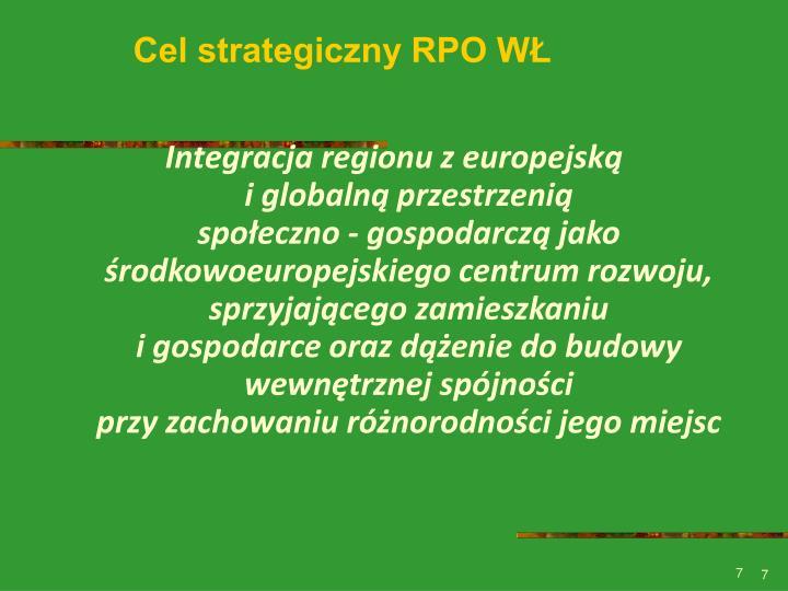 Cel strategiczny RPO WŁ