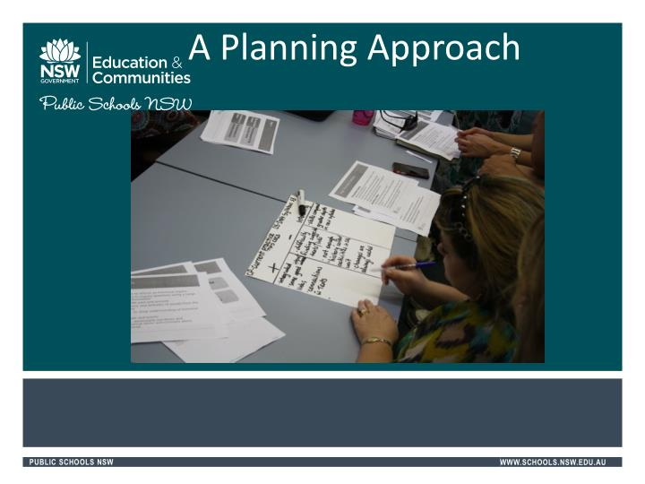 A Planning Approach