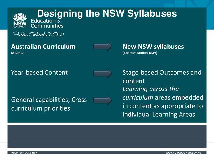 Designing the NSW Syllabuses