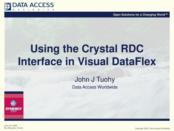 Using the crystal rdc interface in visual dataflex