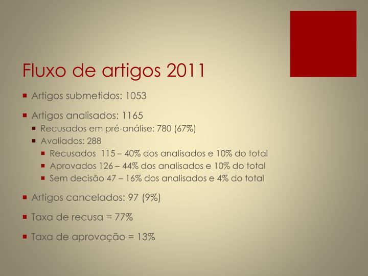 Fluxo de artigos 2011