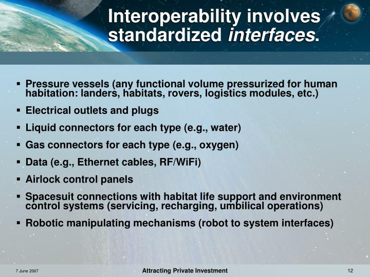 Interoperability involves