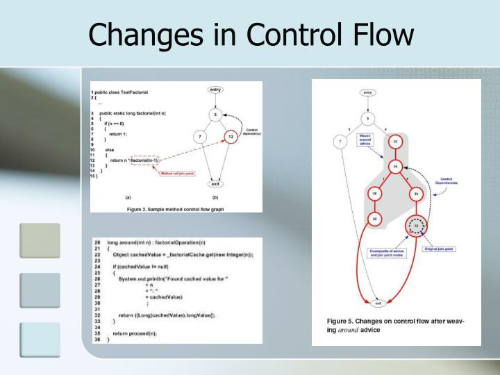 Changes in Control Flow