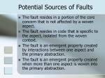 potential sources of faults