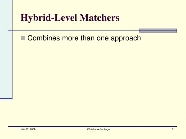 Hybrid-Level Matchers