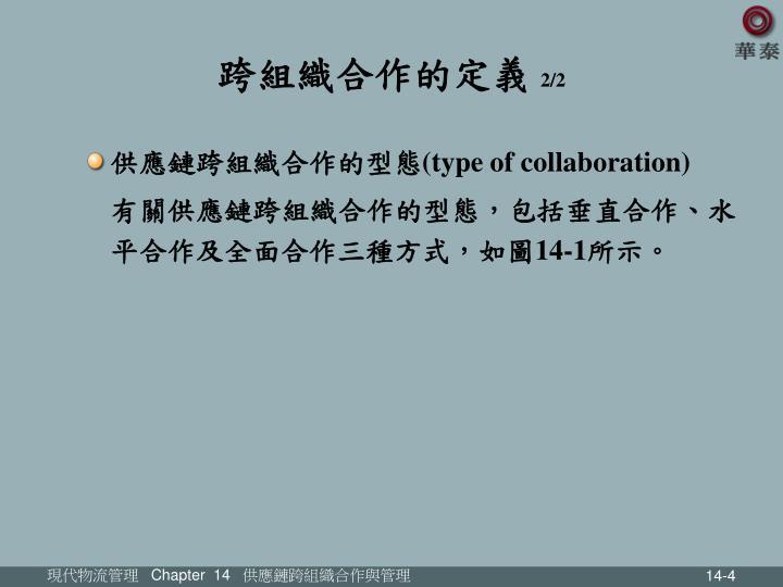 跨組織合作的定義