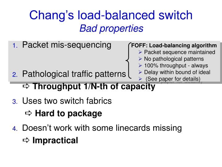 FOFF: Load-balancing algorithm