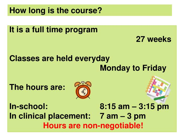 How long is the course?