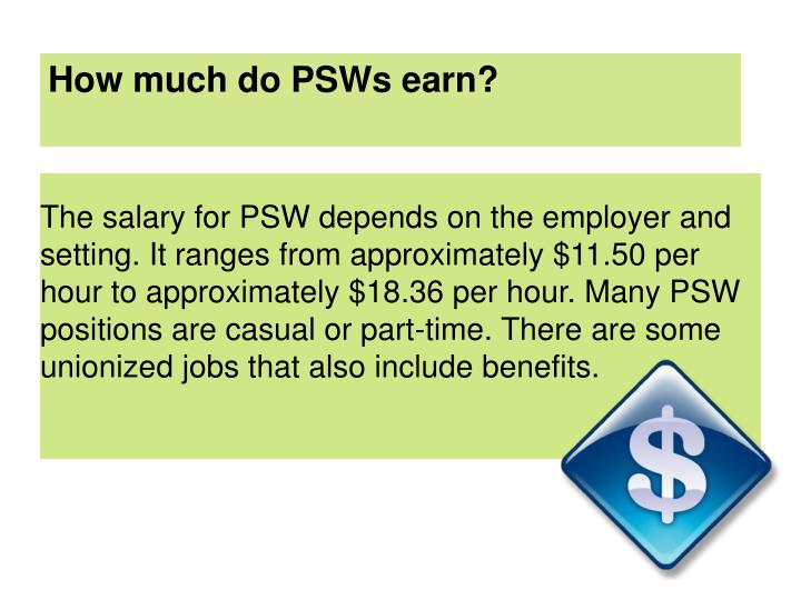 How much do PSWs earn?