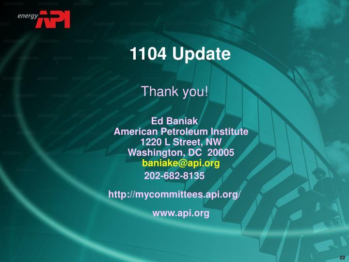 1104 Update