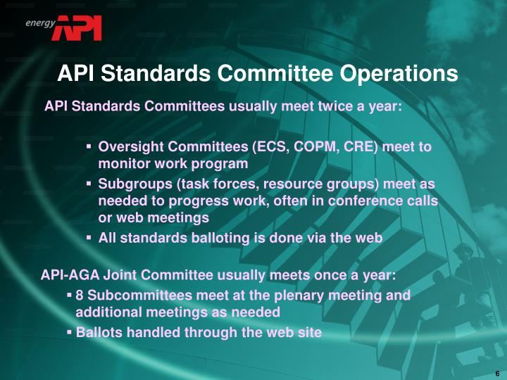 API Standards Committee Operations