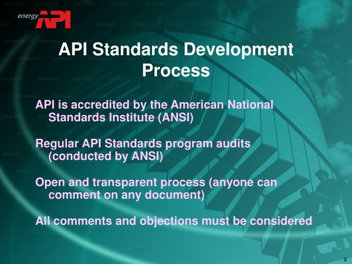 API Standards Development Process