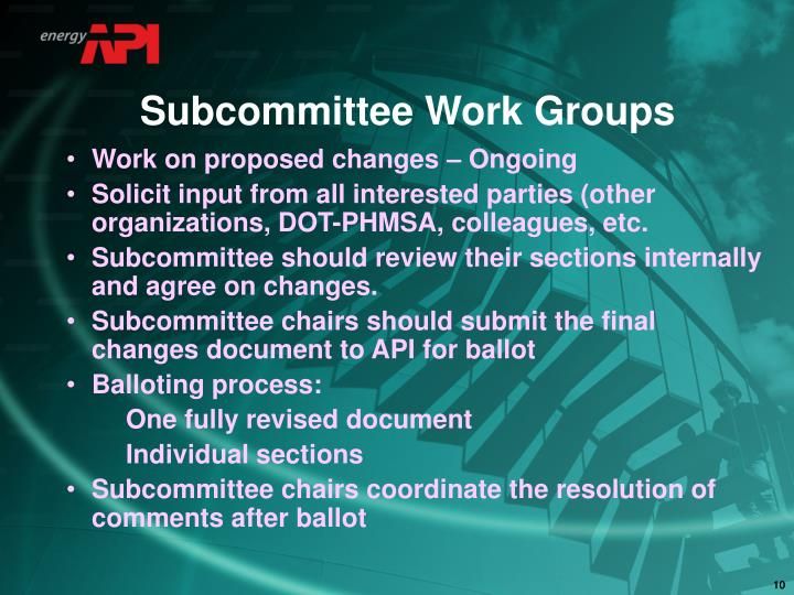 Subcommittee Work Groups