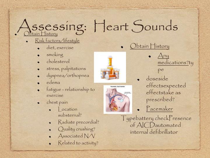 Assessing: