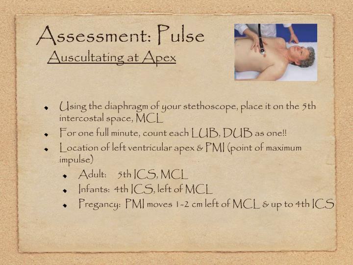 Assessment: Pulse