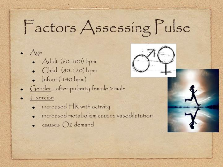 Factors Assessing Pulse