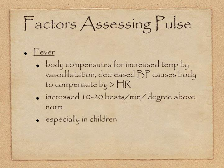 Factors Assessing Pulse