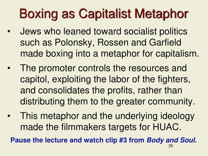 Boxing as Capitalist Metaphor