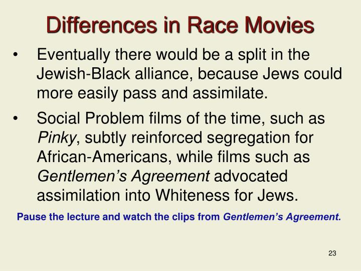 Differences in Race Movies