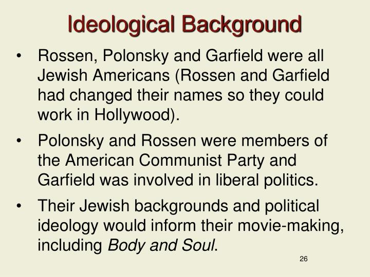 Ideological Background