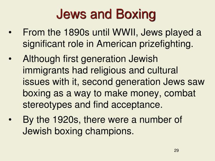 Jews and Boxing