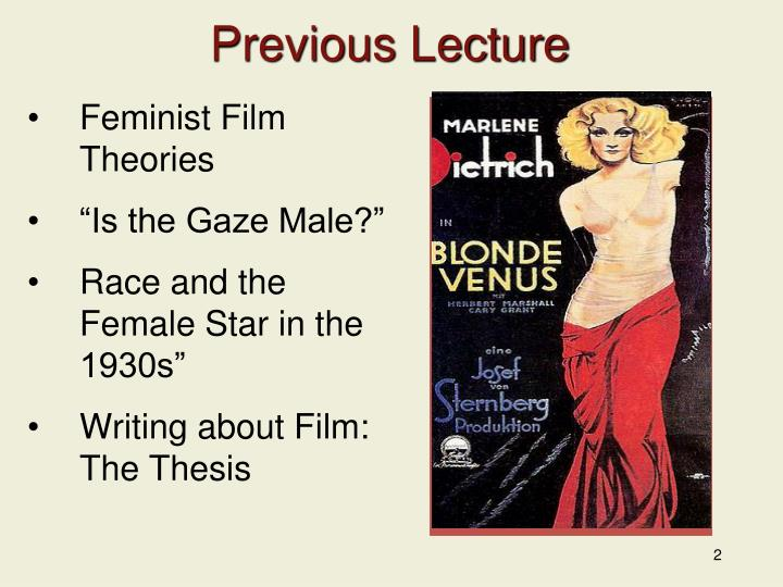 Previous Lecture