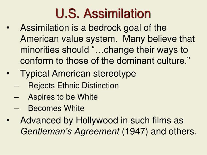 U.S. Assimilation