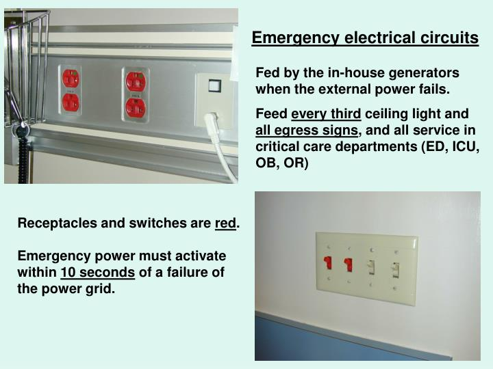 Emergency electrical circuits