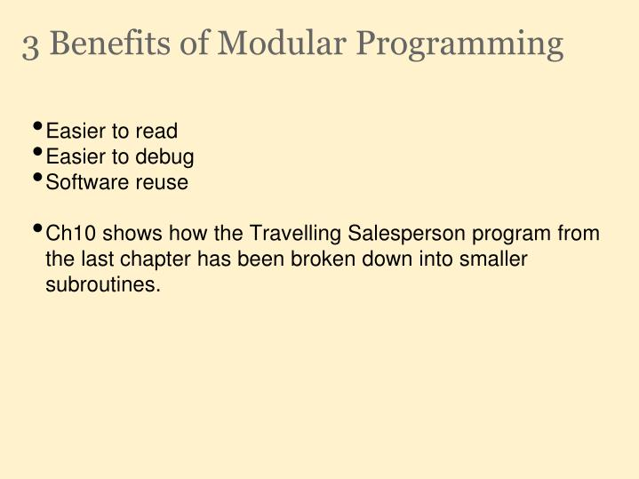 3 Benefits of Modular Programming