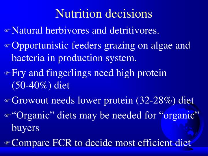 Nutrition decisions