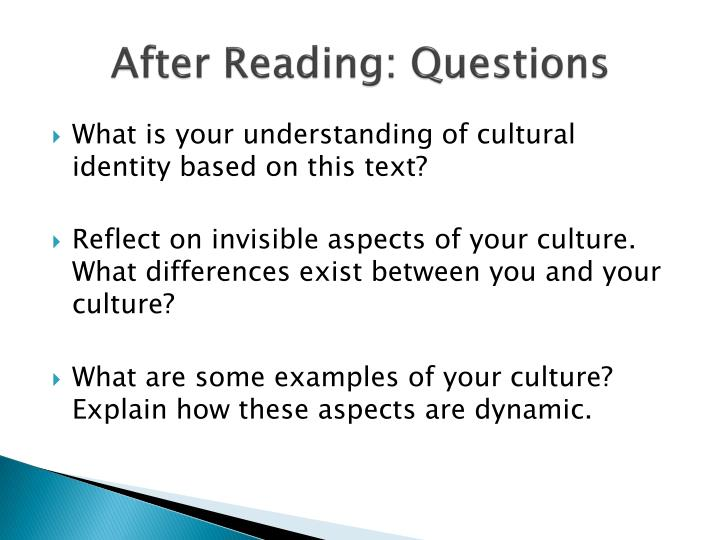 cultural conversations essay Cultural information - conversations question: i am meeting someone for the first time and i want to make a good impression what would be good discussion topics.