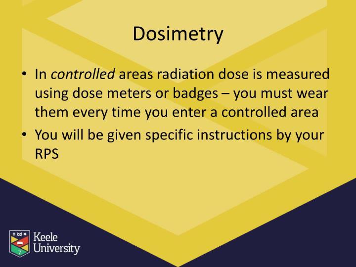 Dosimetry