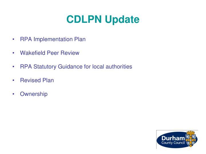 CDLPN Update