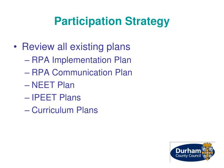 Participation Strategy