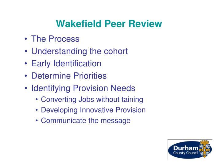 Wakefield Peer Review