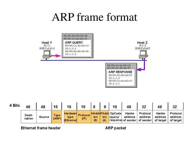 ARP frame format