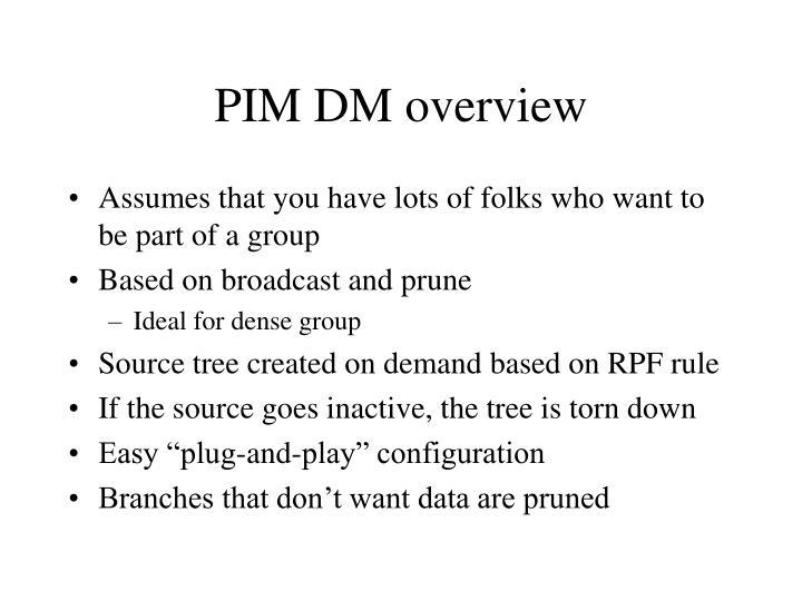 PIM DM overview