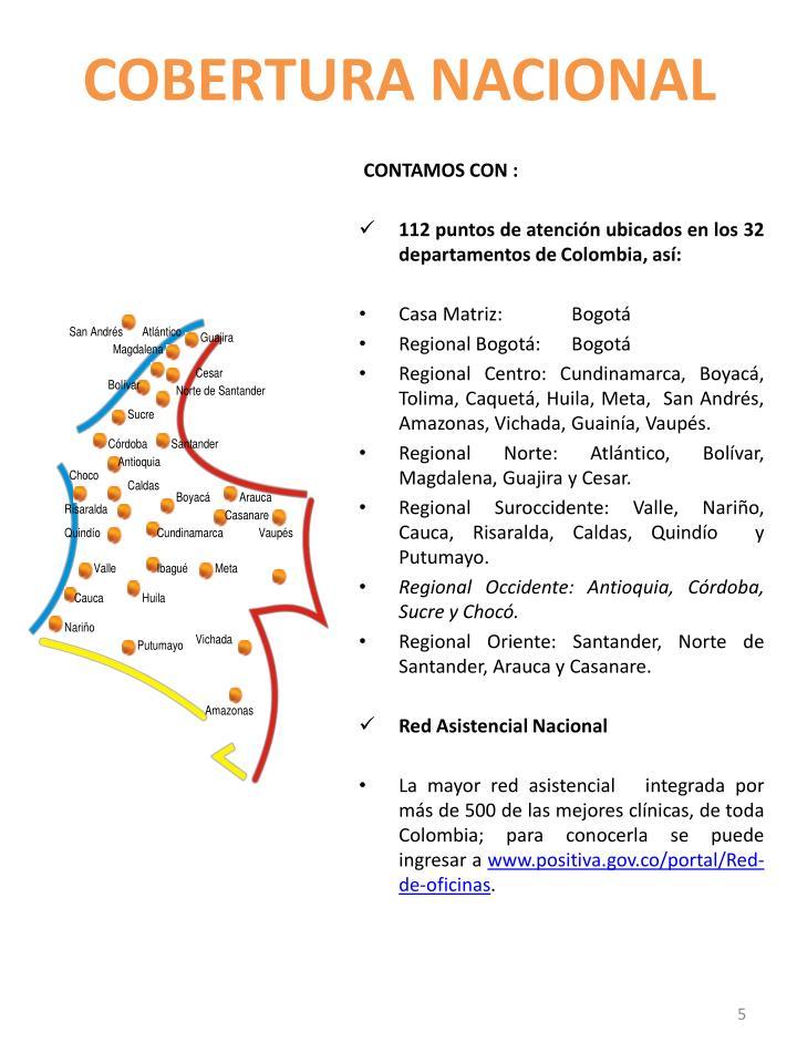 COBERTURA NACIONAL