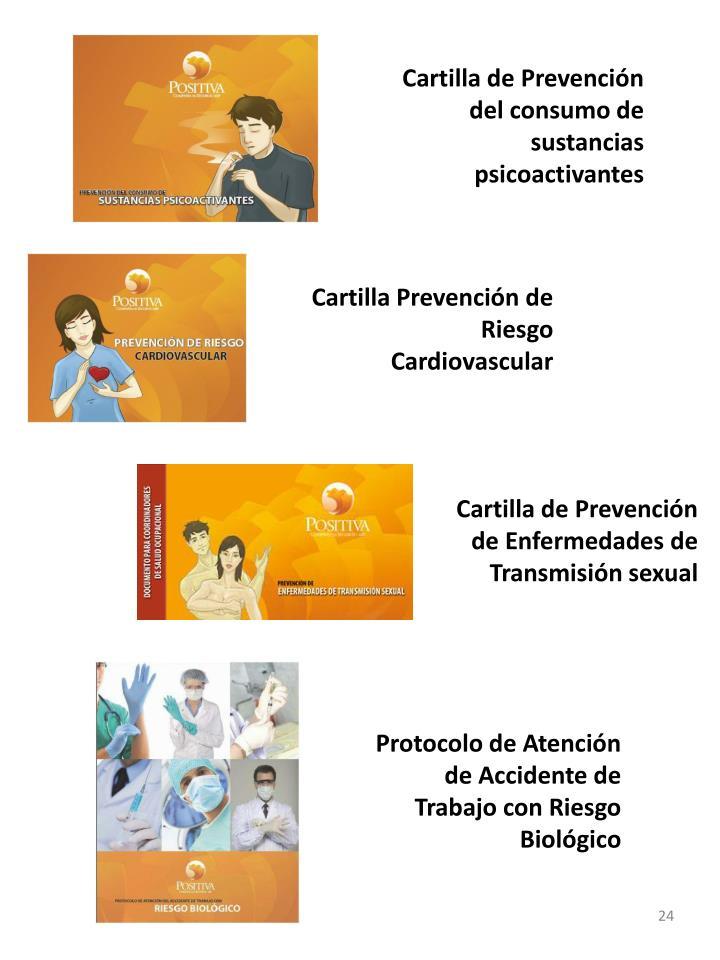 Cartilla de Prevención del consumo de sustancias psicoactivantes