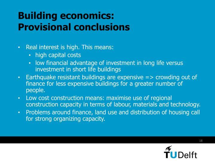 Building economics: