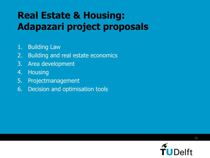 Real Estate & Housing: