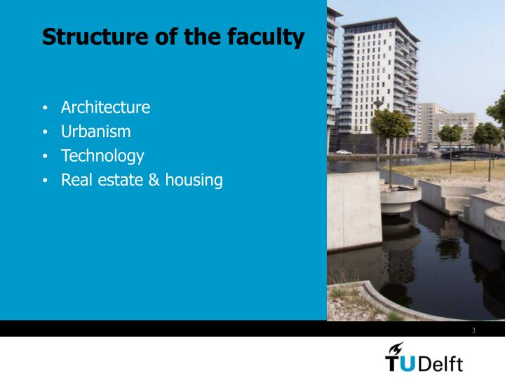 Structure of the faculty