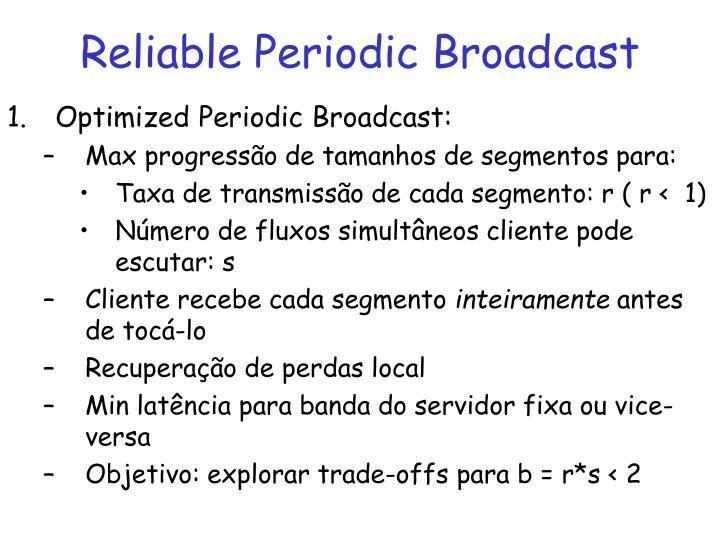 Reliable Periodic Broadcast