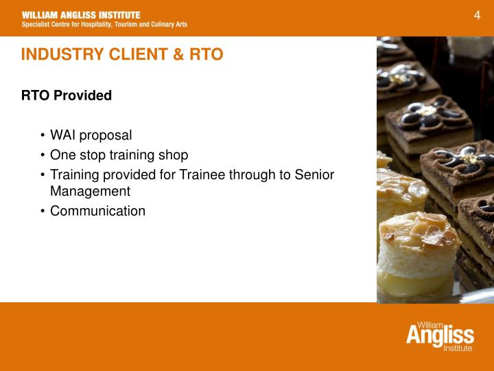 INDUSTRY CLIENT & RTO